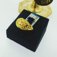 แหวน กระดุมทองฉลุข้าง
