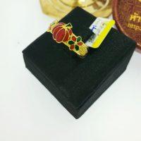 แหวน ฟักทองลงยา