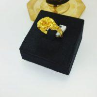 แหวน แฟนซีดอกกุหลาบฉลุข้าง