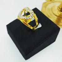 แหวน หัวใจชุบทองคำขาว
