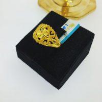 แหวน กระดุมทองจิกลายฉลุข้าง