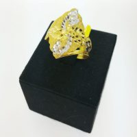 แหวน รุ้งดอกชบาทองคำขาว