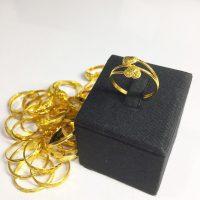แหวน 1 กรัม หัวใจก้านคู่